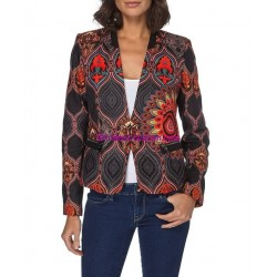 jacket ethnic label 101 IDEES 052CAS