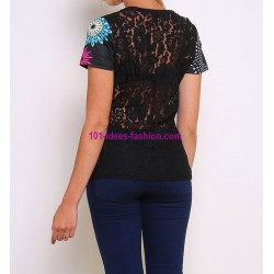 shop top lace plus size summer brand 101 idées Design 433Y ethnic wear
