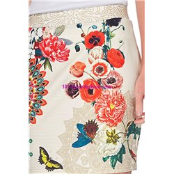 Mini skirt print ethnic floral 101 idees 620Y indian clothes online