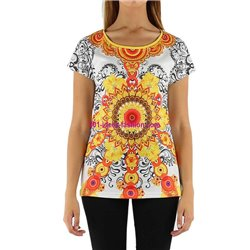 tshirt top print ethnic summer brand 101 idées Design 243AVRA indian