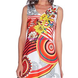dress tunic print summer 101 idées 604Y indian clothes online