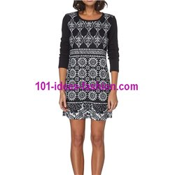 dress tunic lace winter 101 idées 071W