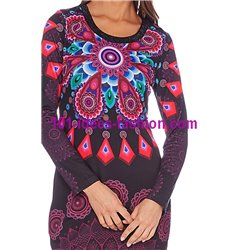 dress tunic print mid season 101 idées 401L New winter collection