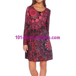 dress tunic print mid season 101 idées 410 New winter collection 2017