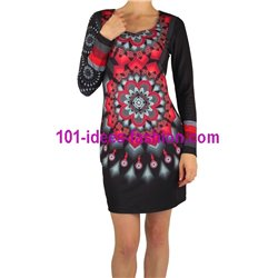 dress tunic print mid season 101 idées 402VC
