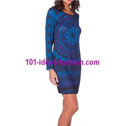dress tunic print mid season 101 idées 408A paris french