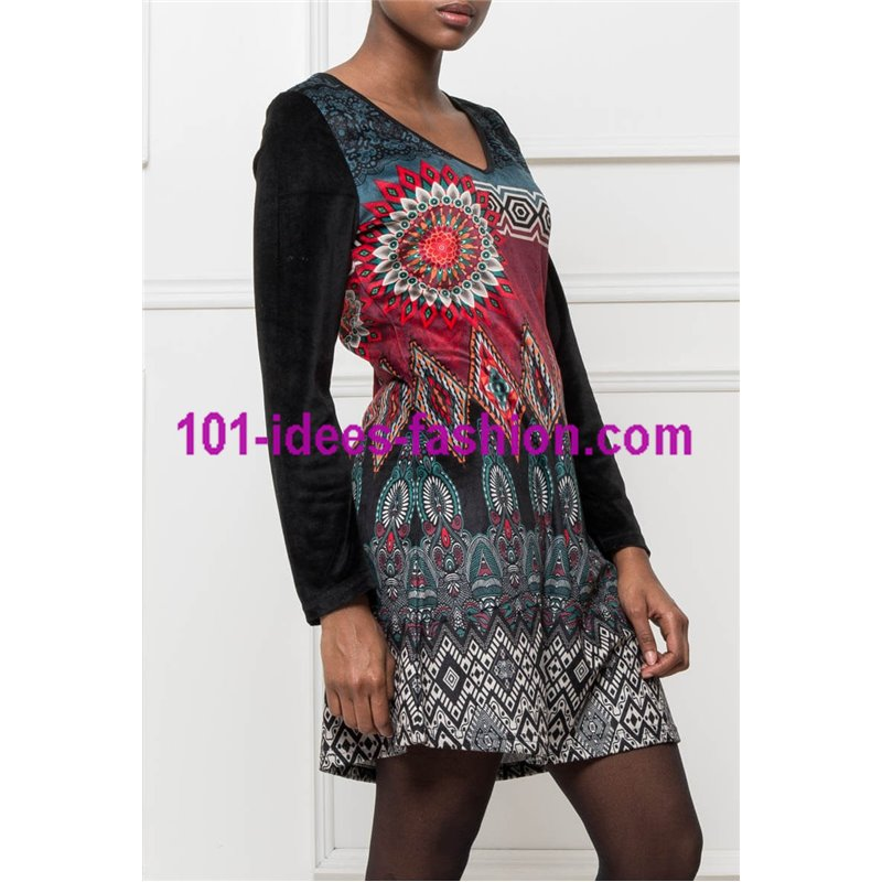 bf649604cab dress tunic velvet ethnic winter 101 idées 2004W