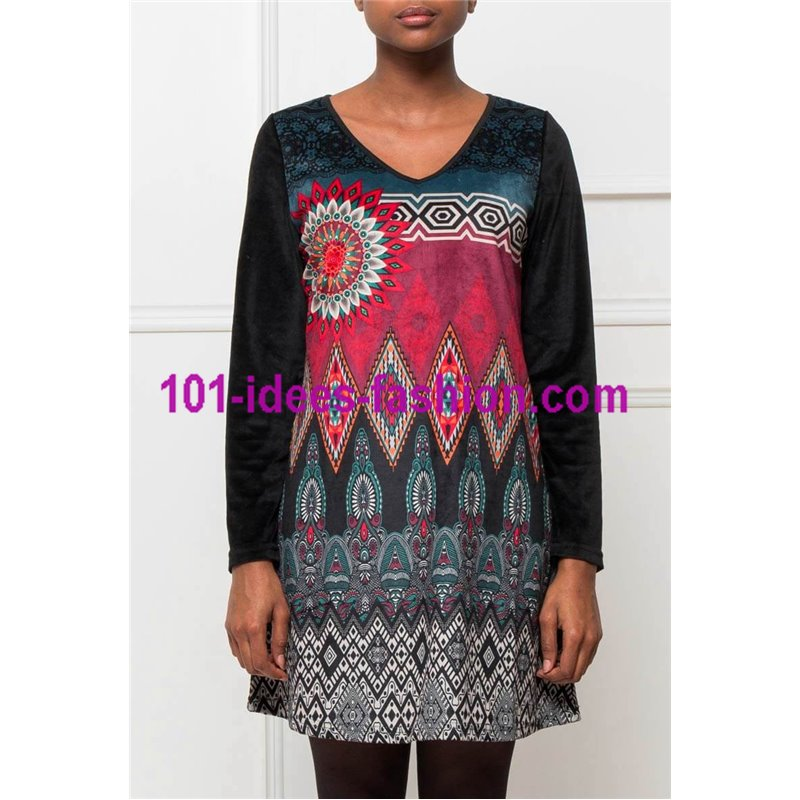db0c961e986 ... dress tunic velvet ethnic winter 101 idées 2004W paris french ...