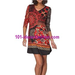 dress tunic suede ethnic winter 101 idées 067W paris french