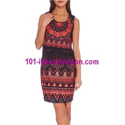 dress tunic print fringes 101 idées 197W paris french