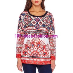 sweat top lace winter ethnic 101 idées 093W paris french