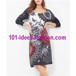 robe grand taille mandala hiver 101 idées 185W LARGE boutique mode