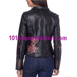 jacket Faux leather perfecto ethnic label 101 IDEES 1902W desigual