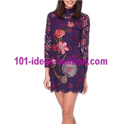 dress tunic lace chic 101 idées 904W store uk