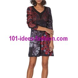 Dress tunic floral ethnic winter 101 idées 311IN
