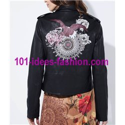 giacca ecopelle perfecto etnica marca 101 IDEES 1932W desigual
