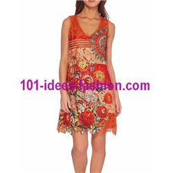 dress lace guipure floral ethnic summer 101 idées 1125WVRA Spring