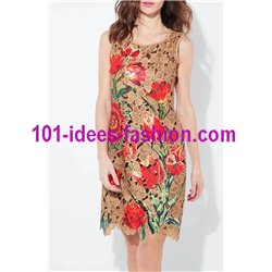 dress tunic lace chic 101 idées 1128W Spring Summer 2018