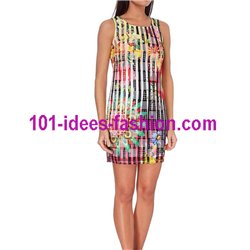 dress tunic lace summer ethnic floral 101 idées 1501Y Spring Summer