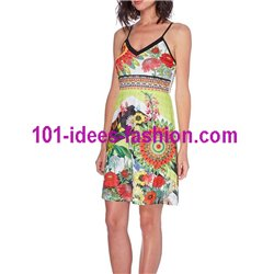 dress tunic ethnic floral print summer 101 idées 1639Y Spring Summer