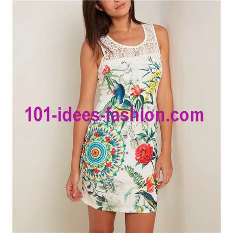 dress tunic lace summer ethnic floral 101 idées 645Y Spring Summer