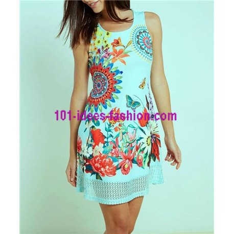 230f55774a Reduced price! dress tunic lace summer ethnic floral 101 idées 627Y clothes  for women