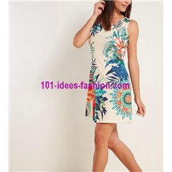 dress tunic ethnic floral print summer 101 idées 223Y