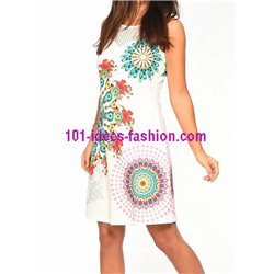 dress tunic lace summer ethnic floral 101 idées 635Y womens clothes