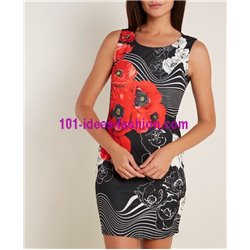 dress tunic summer print floral 101 idées 2606Y clothes for women