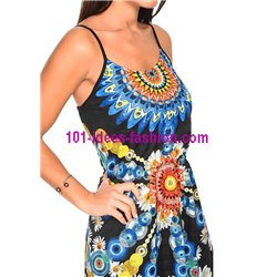 dress tunic ethnic print summer 101 idées 1632Y clothes for women