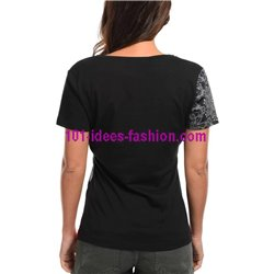 top t-shirt plus size summer floral ethnic 101 idées Design 434YL