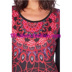 T-shirt top winter ethnic 101 idées 266Z clothes for women
