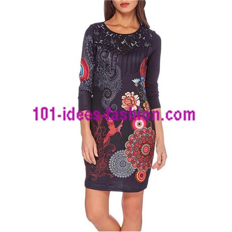 boho chic dress tunic lace ethnic winter 101 idées 189W clothes for
