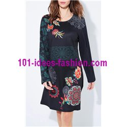 dress ethnic floral winter 101 idées 652Z clothes for women