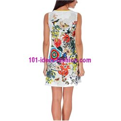 dress tunic ethnic floral print summer 101 idées 204Y clothes for