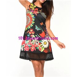 dress tunic lace summer ethnic floral 101 idées 628Y clothes for women