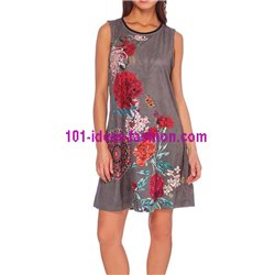 boho chic dress tunic suede summer ethnic 101 idées 367Y clothes for