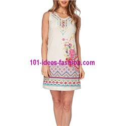 dress tunic suede summer ethnic 101 idées 328Y