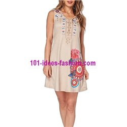 boho chic dress tunic suede summer ethnic 101 idées 331Y clothes for