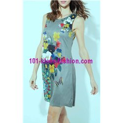 dress tunic suede ethnic floral 101 idées 366Y