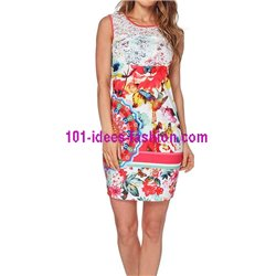 dress tunic lace summer ethnic floral 101 idées 527VRA
