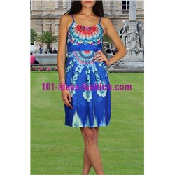 dress tunic ethnic print summer 101 idées 324Y