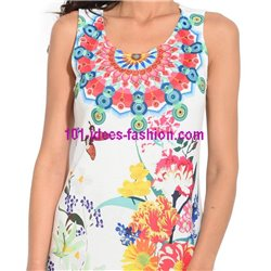 dress tunic lace summer ethnic floral 101 idées 644Y