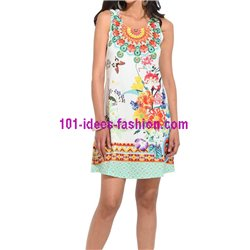 dress tunic lace summer ethnic floral 101 idées 643Y