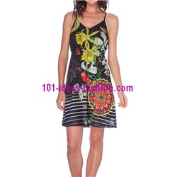 boho chic dress tunic ethnic floral print summer 101 idées 1640Y