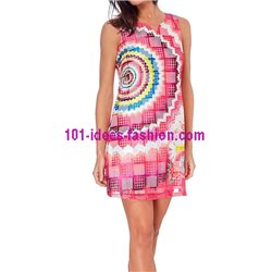 dress tunic lace summer ethnic floral 101 idées 1503P
