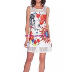 buy now dress tunic lace summer ethnic floral 101 idées 609P clothes