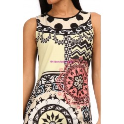 boho chic dress tunic ethnic print summer 101 idées 012P clothes for