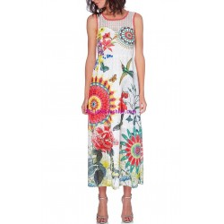boho chic maxidress lace ethnic floral summer 101 idées 1617P clothes