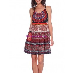 buy now dress tunic ethnic print summer 101 idées 1616P clothes for